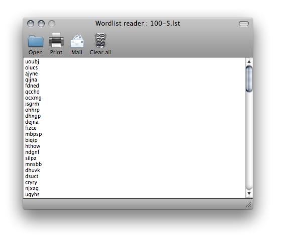 Wordlist Reader