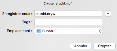 Choisir le nom du fichier
